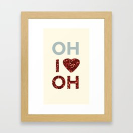 I Love Ohio Framed Art Print