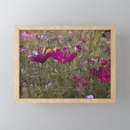 Wild Flowerbed 3 Framed Mini Art Print