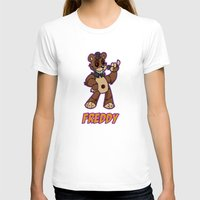 fnaf T-shirts featuring Freddy Plush by Silvering