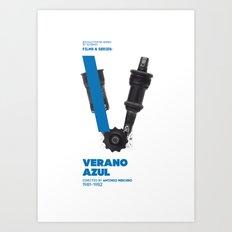 Bike to Life - Verano Azul Art Print