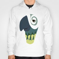 parrot Hoodies featuring Parrot  by Jessica's Illustrationart