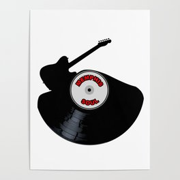Memphis Soul Music Silhouette Record Poster