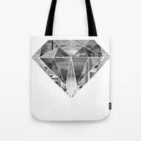 diamond Tote Bags featuring Diamond by fyyff