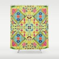 mirror Shower Curtains featuring Mirror  by MinaSparklina