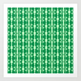 Saloon Wallpaper Mint Green Sap Green Country Wallpaper Molding Southwestern Design Pattern Art Print