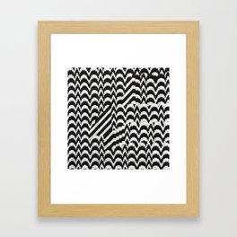Bargello Interrupt Framed Art Print