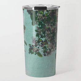 Sweet Crabapple Blossom Overhang Travel Mug