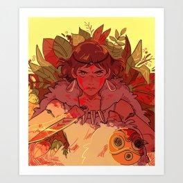 mononoke hime Art Print