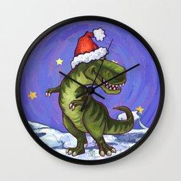 Tyrannosaurus Christmas Wall Clock