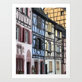 Colmar pastel houses Art Print