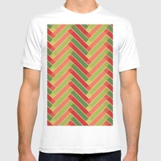 Holly Go Chevron MEDIUM White Mens Fitted Tee