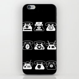 Fifties' Smartphones Black iPhone Skin