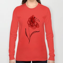 Vector Flower Long Sleeve T-shirt