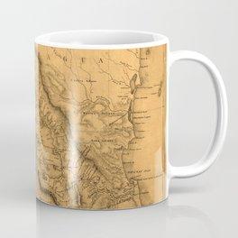 Map Of Nicaragua 1851 Coffee Mug