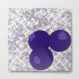 Blueberries Metal Print