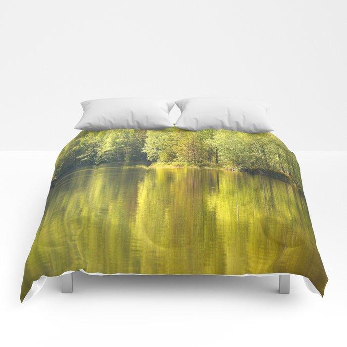 Summer Green Reflection Comforters