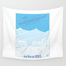 A Winter Haiku (AwkwardIRL #11) Wall Tapestry