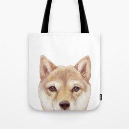 Shiba inu Dog illustration original painting print Tote Bag
