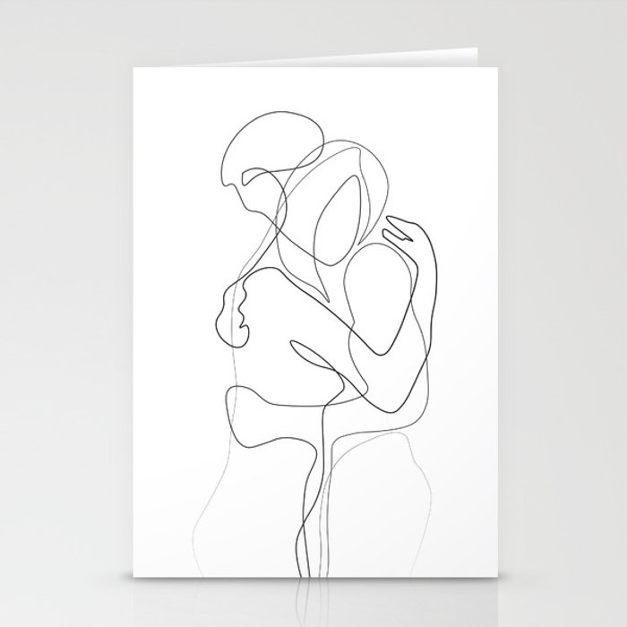 Lovers - Minimal Line Drawing Stationery Cards