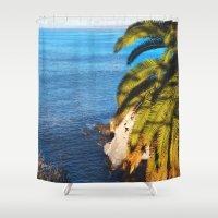 san diego Shower Curtains featuring San Diego Overlook by Tdrisk46