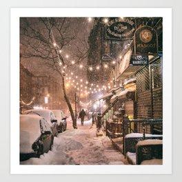Snow - New York City - East Village Art Print