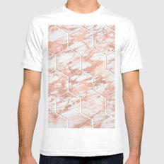 Rose gold beehive II Mens Fitted Tee MEDIUM White