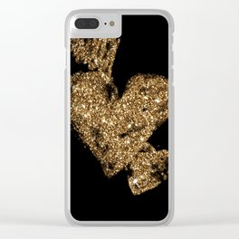 Triple Hearts Clear iPhone Case