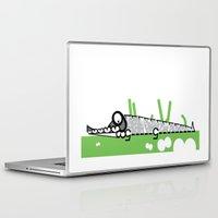 crocodile Laptop & iPad Skins featuring Crocodile by Josè Sala