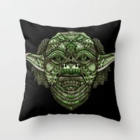 jedi Throw Pillows featuring Aztec Jedi master Yoda iPhone 4 4s 5 5c 6, pillow case, mugs and tshirt by Greenlight8