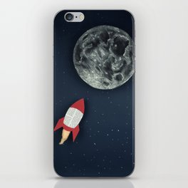 Rocket to the Moon iPhone Skin