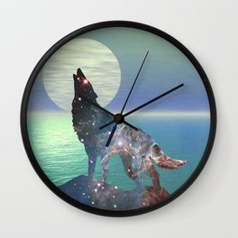 Star Wolf Wall Clock