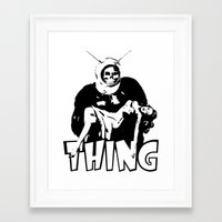 the thing Framed Art Prints featuring THING by Taylor Bissett