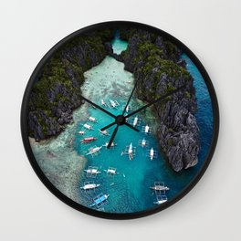 Island hopping in the Philippines Wall Clock