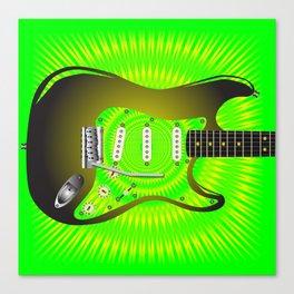 Splash Guitar Canvas Print