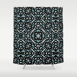 Oriental Geometric Print Pattern Shower Curtain