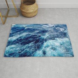 Rough Ocean Waves Rug