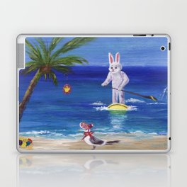 Easter Bunny at the Beach Laptop & iPad Skin