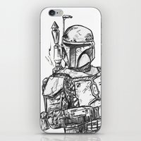 boba fett iPhone & iPod Skins featuring Boba Fett by Leamartes