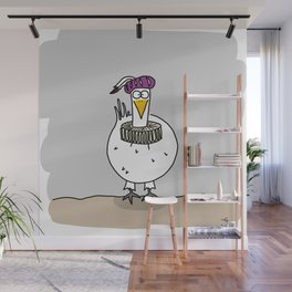 Eglantine la poule (the hen) dressed up as a troubadour Wall Mural