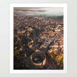 Rome wasn't built in one day Art Print