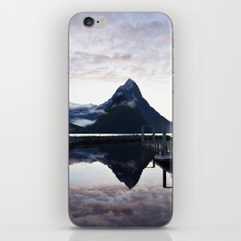 Sunset to die for at Milford Sound iPhone Skin