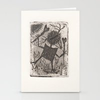 sport Stationery Cards featuring Sport crow by KRADA ZHAN ART