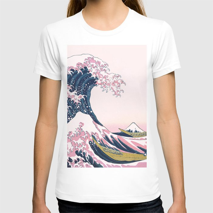 The Great Pink Wave off Kanagawa T-shirt