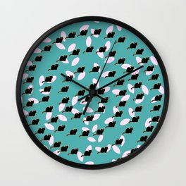 Cat spiral Wall Clock