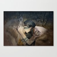 totem Canvas Prints featuring Totem by Marine Loup