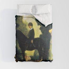 Children, Dogs And Pony - Arthur Bowen Davies Comforters