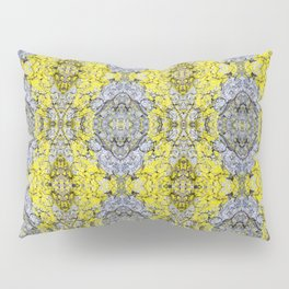 Yellow and Grey Abstract Pattern Pillow Sham