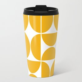 Mid Century Modern Geometric 04 Yellow Travel Mug