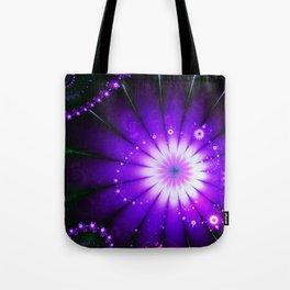 Magical Purple Flowers Tote Bag