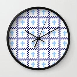Christian Cross 48 Wall Clock